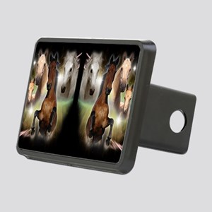 Horses Rectangular Hitch Cover