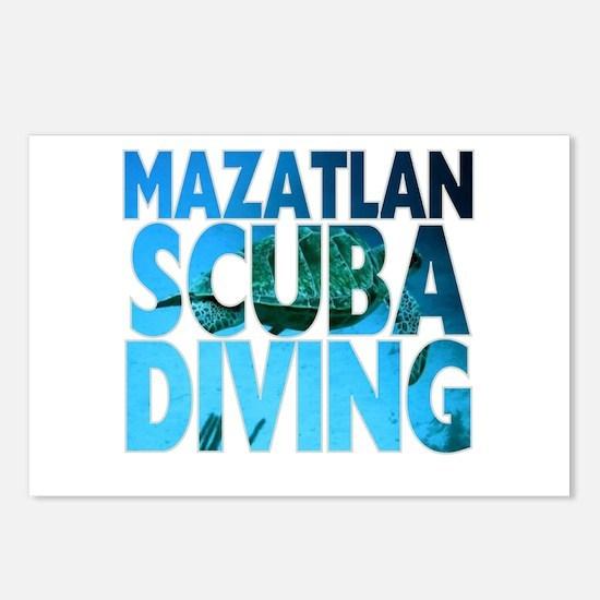 Mazatlan Scuba Diving Postcards (Package of 8)