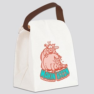 makinbacon2_white Canvas Lunch Bag