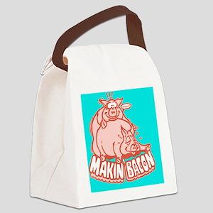 makinbacon2_button Canvas Lunch Bag