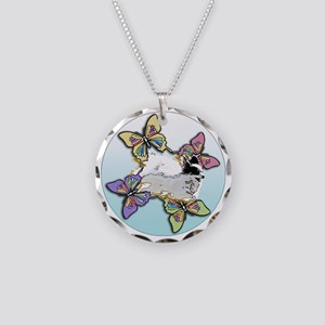 Agility Papillon Necklace Circle Charm