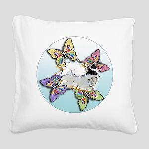 Agility Papillon Square Canvas Pillow
