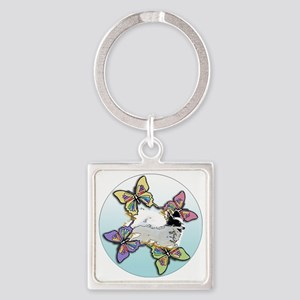 Agility Papillon Square Keychain