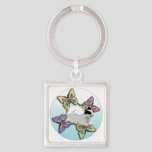 Agility Papillon Square Keychain