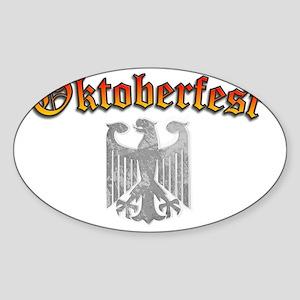 Oktoberfest German Deutsch Eagle Cr Sticker (Oval)