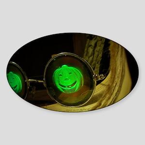 Spooky Halloween Pumpkin Hologram S Sticker (Oval)
