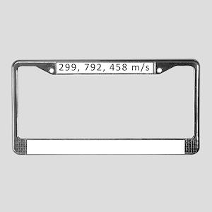 Speed of light License Plate Frame