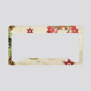 Christmas Hope Collage Poinse License Plate Holder