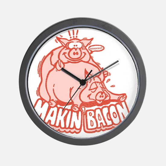 makinbacon2_tran Wall Clock