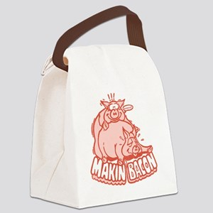 makinbacon2_tran Canvas Lunch Bag
