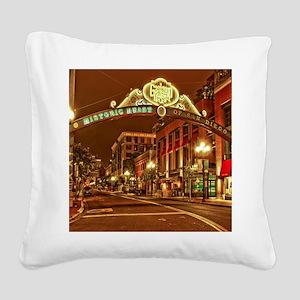 Gaslamp2 Square Canvas Pillow