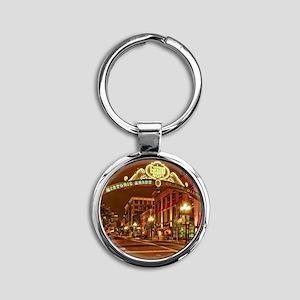Gaslamp2 Round Keychain