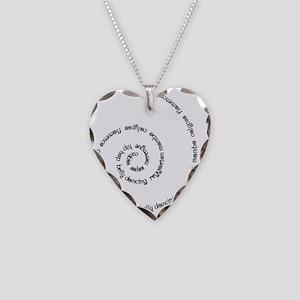 Latin Dance Black Necklace Heart Charm