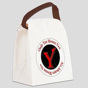 OYMYNAMN-redblack-algerian Canvas Lunch Bag