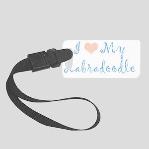 I-Love-My-Labradoodle-Gigi Small Luggage Tag