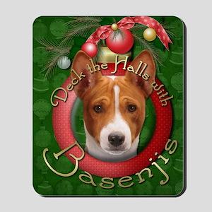 DeckHalls_Basenjis Mousepad