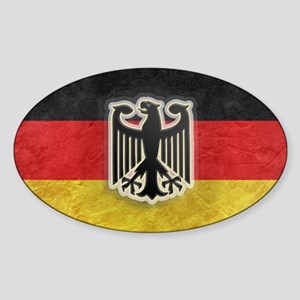 Oktoberfest German Eagle Crest Patc Sticker (Oval)