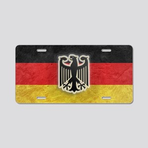 Oktoberfest German Eagle Cr Aluminum License Plate