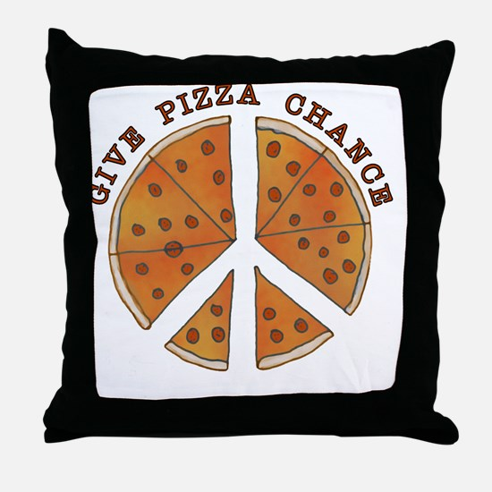 pizzachance_2_button Throw Pillow