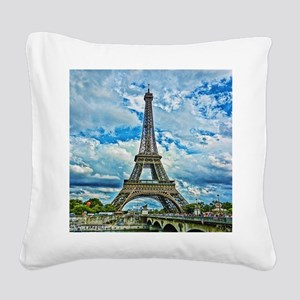10x10_Eiffel Square Canvas Pillow