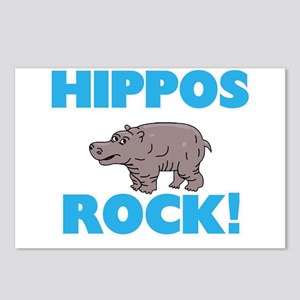 Hippos rock! Postcards (Package of 8)