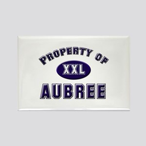 Property of aubree Rectangle Magnet