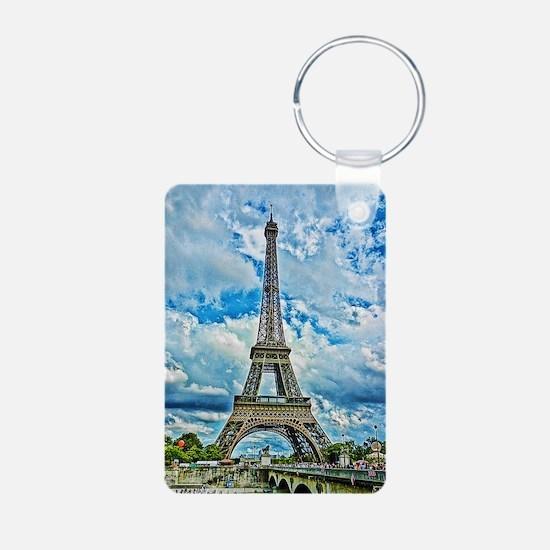 9x12_Eiffel Aluminum Photo Keychain