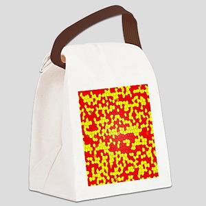 Pixels Canvas Lunch Bag