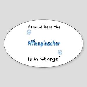 Affenpinscher Charge Oval Sticker