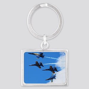 Blue Angels Landscape Keychain
