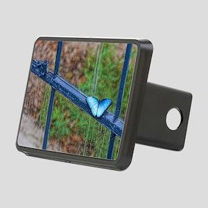 Blue Morpho 9.5x8 Rectangular Hitch Cover