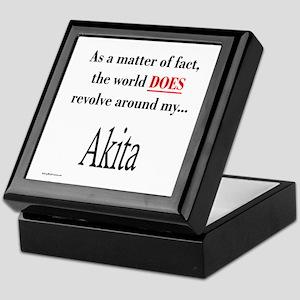 Akita World Keepsake Box
