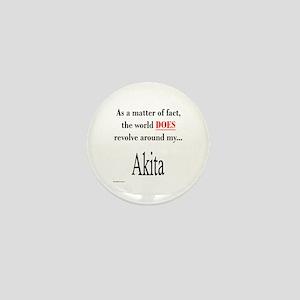 Akita World Mini Button