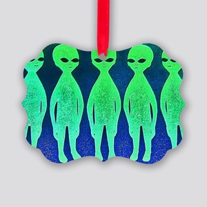 11x17_spaceinvaders Picture Ornament