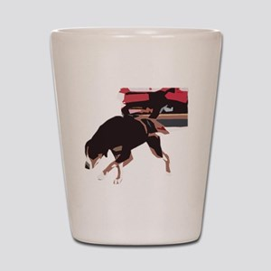 ava weight pull color block Shot Glass