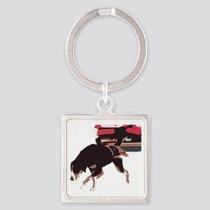 ava weight pull color block Square Keychain