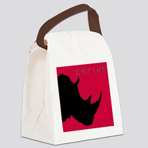 rhino head cutout blackFINj Canvas Lunch Bag