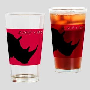 rhino head cutout blackFINj Drinking Glass