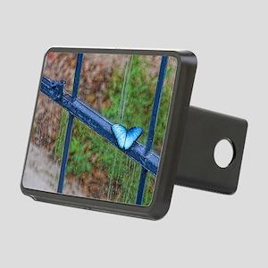 Blue Morpho 7.5x5.5 Rectangular Hitch Cover