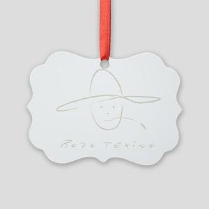 Bozo Texino 3A Tan Picture Ornament