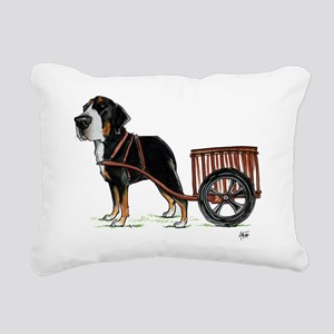 betty-on-cart-cuout Rectangular Canvas Pillow