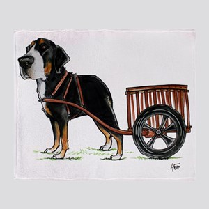 betty-on-cart-cuout Throw Blanket