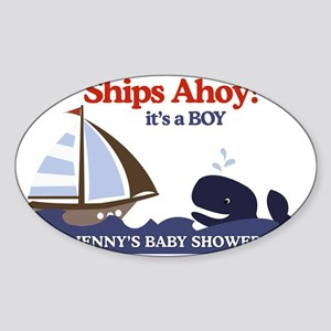 Ahoy Mate Yard Sign Sticker (Oval)