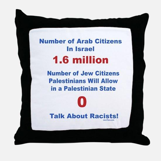 Palestinian Racism Throw Pillow