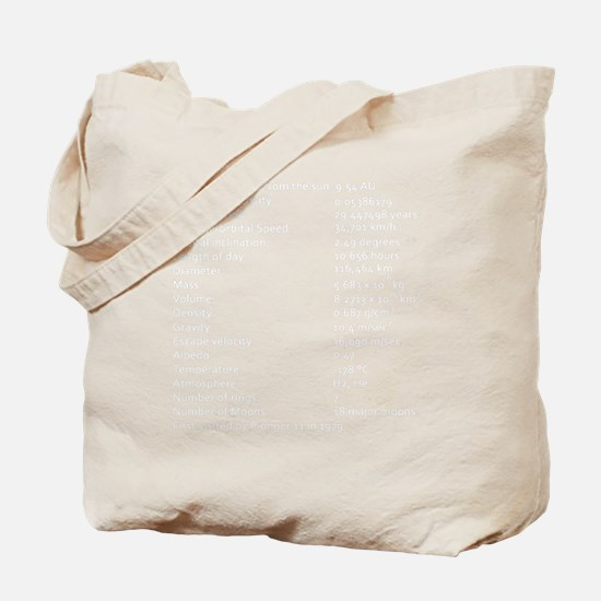 Saturn Facts-whiteLetters1 copy Tote Bag