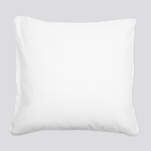 Saturn Facts-whiteLetters1 co Square Canvas Pillow