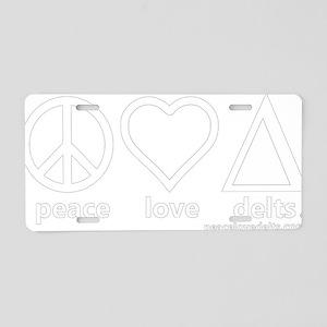 pld_tighter_white_final Aluminum License Plate