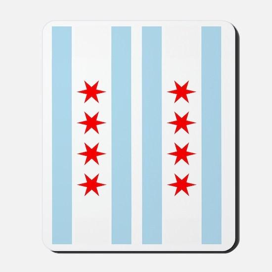Chicago Flag Flip Flops Mousepad