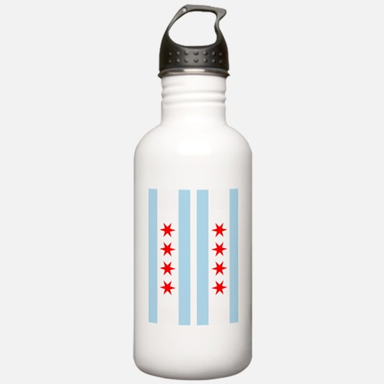 Chicago Flag Flip Flop Water Bottle