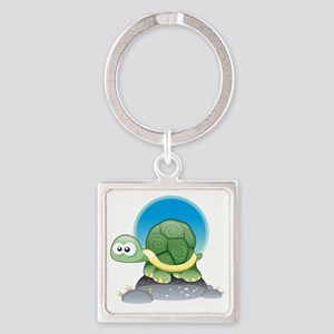 Tommy-The-Turtle Square Keychain